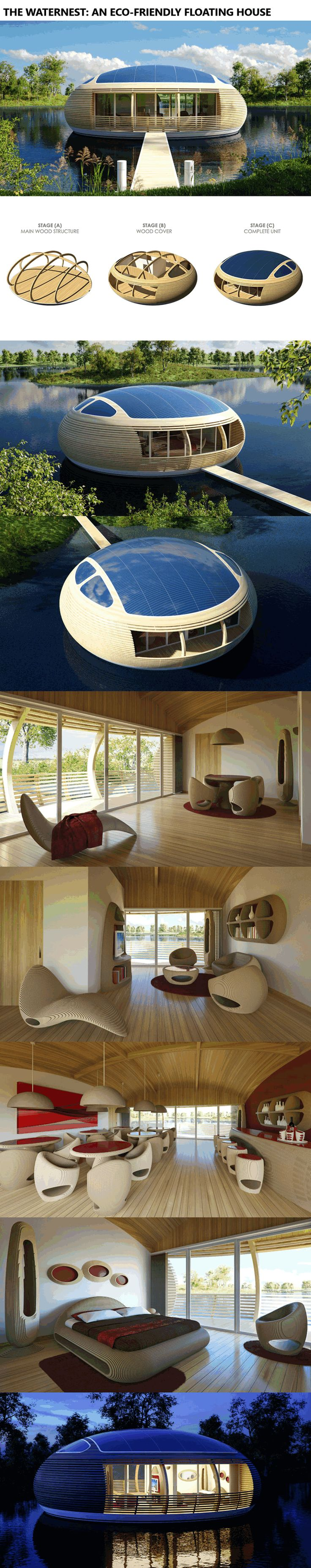 The WaterNest: An Eco-Friendly Floating House http://www.alternative-energy-news.info/waternest-floating-house/