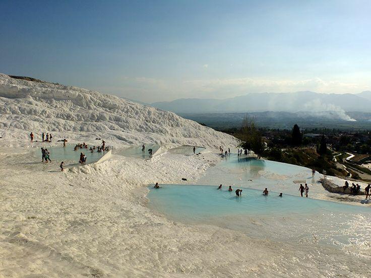 Türkei Urlaub bei uns günstig buchen. Sehenswürdigkeit: Pamukkale  www.bucher-reisen.de