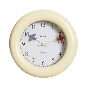 Ivory Kitchen Wall Clock by Alessi
