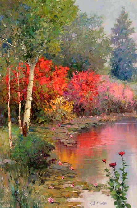 Kent R. Wallis (American, b. 1945): Galleries in Carmel California- Jones & Terwilliger