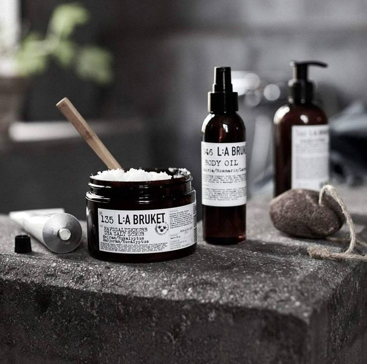 Let L:A Bruket Sea Salt Scrub and Body Oil replenish and moisturize your skin again! www.LABruket-USA.com #CieLuxe #CieLuxeBrands #LABruket #SeaSalt #BodyOil