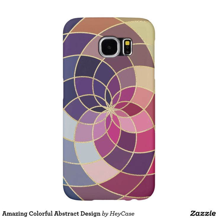Funda celular Samsung Galaxy S6 diseño abstracto y suaves colores