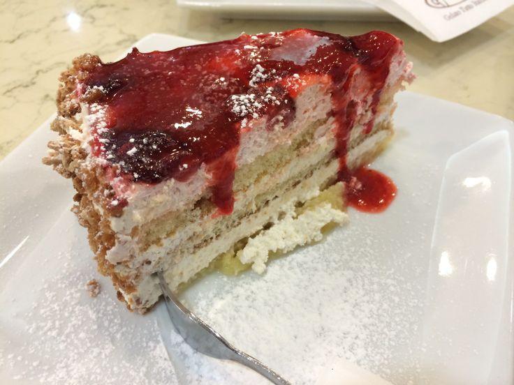 The best strawberry cake ever! It is in Klagenfurt, Austria.