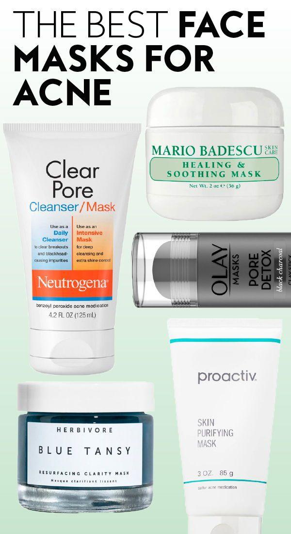 Die besten # Gesichtsmasken für #acne. #bestfacemasks #treatacne #perfectskin #pores #proactiv #herbivore #neutrogena #mariobadescu #olay