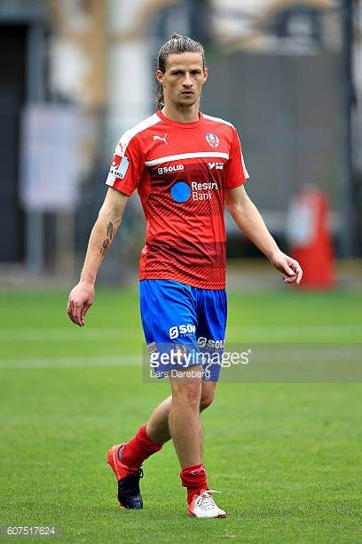 Jesper Lange of Helsingborgs IF during the Allsvenskan match between Helsingborgs IF and IFK Norrkoping at Olympia Stadium on September 18 2016 in...