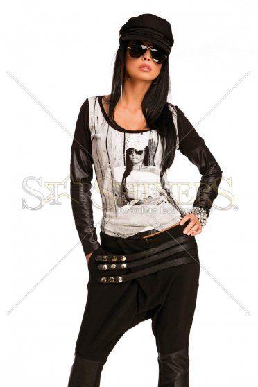 Pantaloni Mexton Modern Leather Black