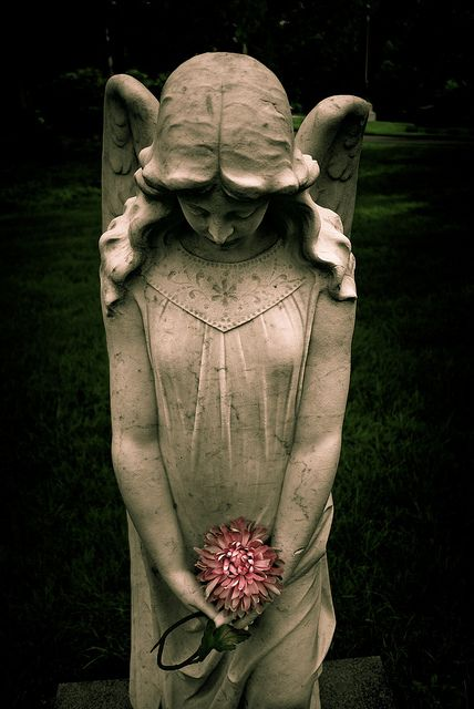Statue, Swan Point Cemetery by Mike St. Jean, via Flickr