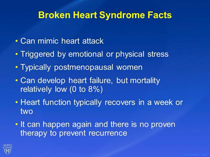 Broken heart syndrome facts