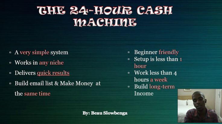 The 24-Hour Cash Machine: Introduction Video  In this video, you will discover what The 24 hour Cash Machine is, and what the following videos are about.  To go to Step 2 Click here https://youtu.be/iXJKRNk_Sqk   To go to Step 3 Click here https://youtu.be/3vC47VSuWaU  Super Ninja cash Tool Click here https://youtu.be/uoYgFMX_DTI