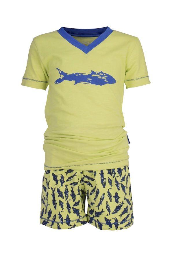 Claesen's pyjama shortama voor jongen Shark | #Claesens summer pf's for boys Shark #nightwear #kids #kindernachtkleding #kinderpyjama