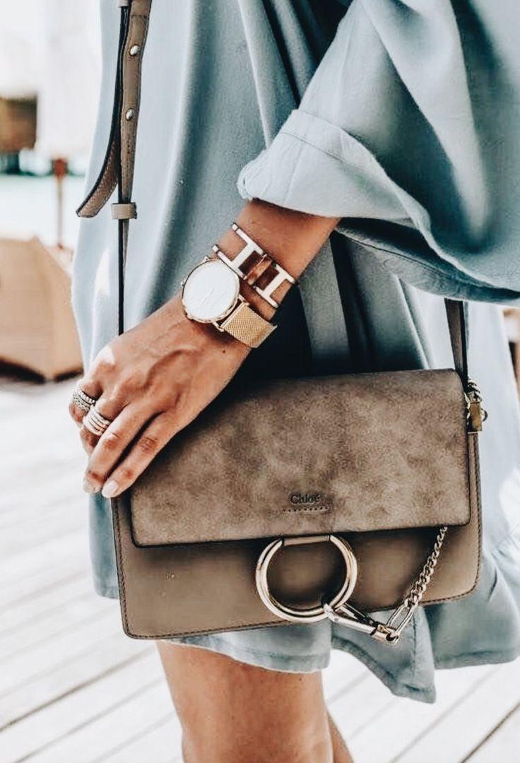 Chloe Faye bag! Love this leather crossbody purse! #purse #chloe