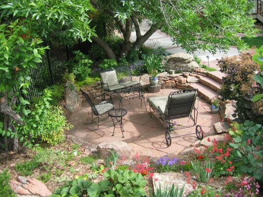 32 best images about flagstone firepit  patio on pinterest