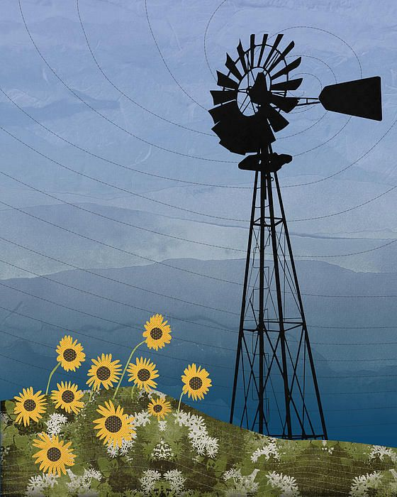 Windpump American Style Windmill http://fineartamerica.com/featured/windpump-american-style-windmill-janet-carlson.html?newartwork=true Wind, powered, water pump, windmill, farm, energy, wind, vanes, sails, blades, milling, agriculture, agricultural, wind turbines, electricity, wind-pump, grist mill, wind power, pump, water, multi-bladed, Americana, Aermotor Windmill Company, sunflower, flower, nature, grass, clouds, scenery, mountains, Appalachian