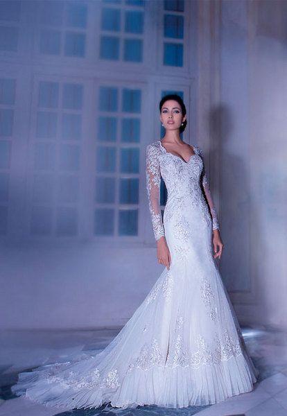 Vestido de noiva em renda e tule