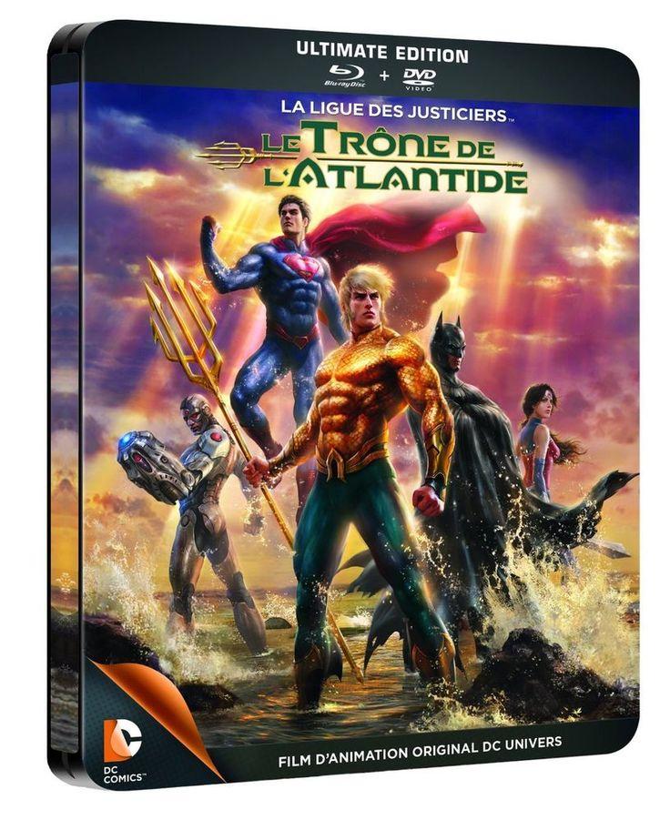 La Ligue des justiciers - Le Trône de l Atlantide STEELBOOK en BLU-RAY - NEUF