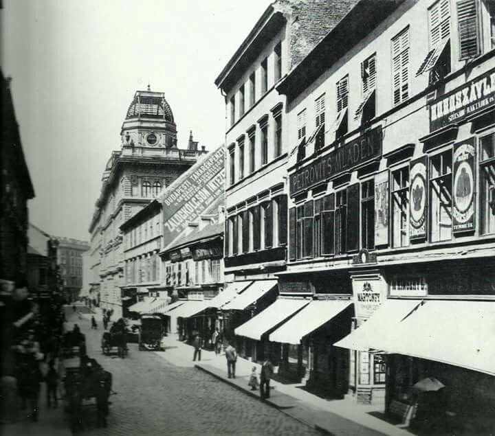1890 körül. Petőfi Sándor (Koronaherceg) utca.