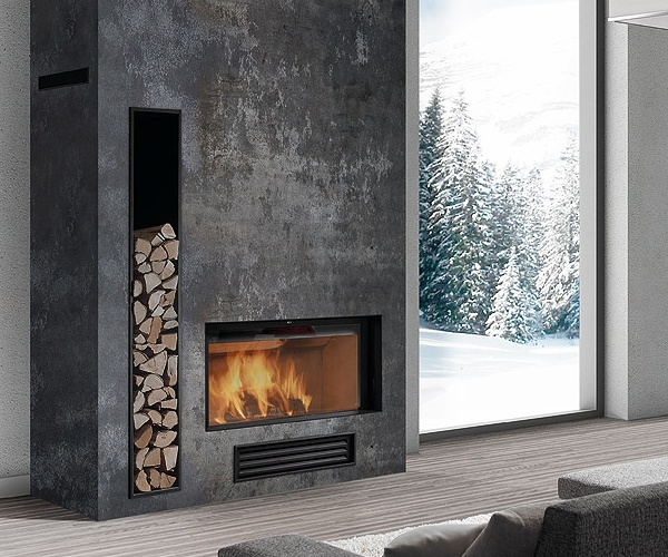 Industrial Contemporary: 71 Best Linear Fireplaces Images On Pinterest