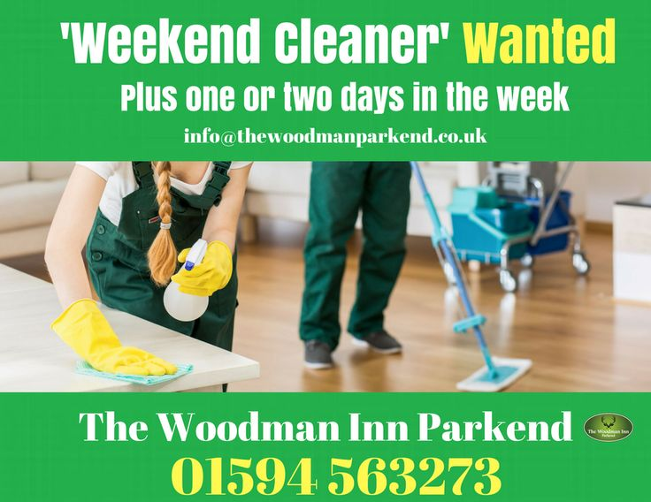 The Woodman Inn Parkend Requires a 'Weekend Cleaner' plus one or two days in the week. Please email or post your CV and covering letter fao Ian at; The Woodman Inn, Folly Road, Parkend, Lydney, Glos, GL15 4JF. Email – info@thewoodmanparkend.co.uk #thewoodmaninn #forestofdean #vacany #job #jobs #cleaner www.thewoodmanparkend.co.uk