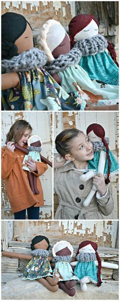 Now I can make some friends! Pepper doll Free pattern and detailed tutorial.