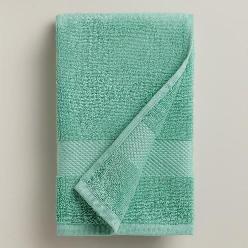 One of my favorite discoveries at WorldMarket.com: Sea Blue Hand Towel
