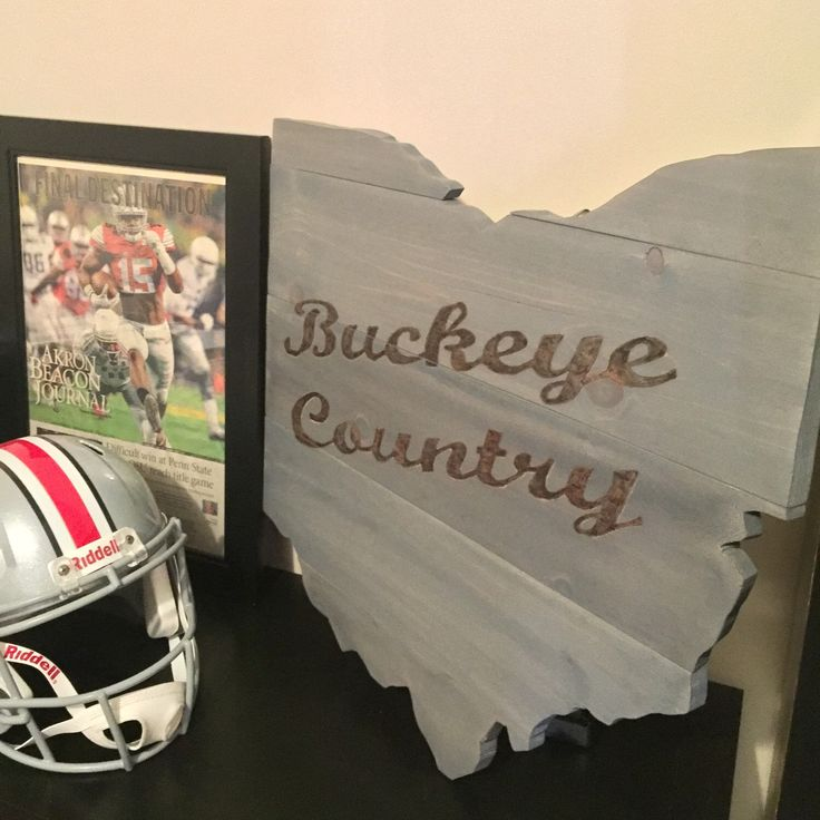 Brand new Ohio State decor! Hang it inside or outside. Perfect piece to show your Buckeye pride!