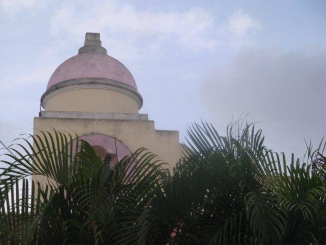 The cupala  dome will be changing colors soon as the house is being painted white this year, what color should the dome be painted?  Must be a great color for Cozumel Mexico Casa Patricia ia a Happy house..