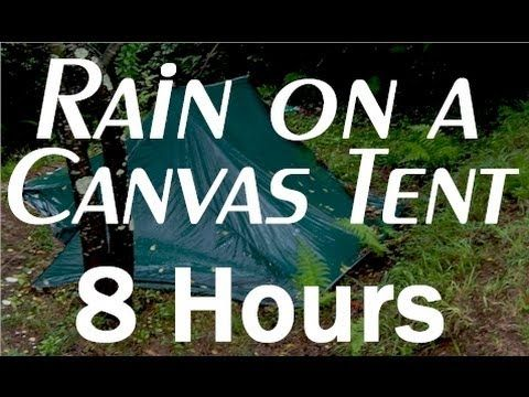 Rain on a Tent Sounds : 8 Hour Long Relaxing Sounds for Sleep - I hope I am abe to wake up in the morning.... This is nice :) #Soundsleep #relaxation #peacefulness