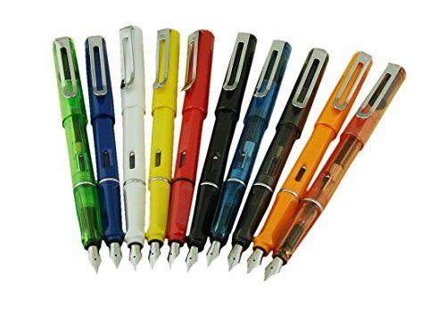 Erofa 10 Pcs ( 10 Colors) Jinhao 599 Fountain Pen Diversity Pen Set (Medium Nib)