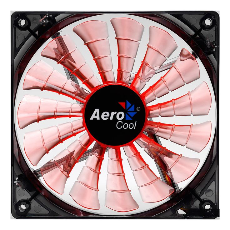 Shark 12cm Evil Black Orange LED Fan 15 Blade Fluid Dynamic Bearing - Computer Products Online Ltd