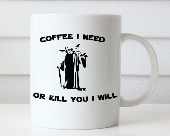 Tazza di Yoda divertente tazza di caffè tazze di Giftsology