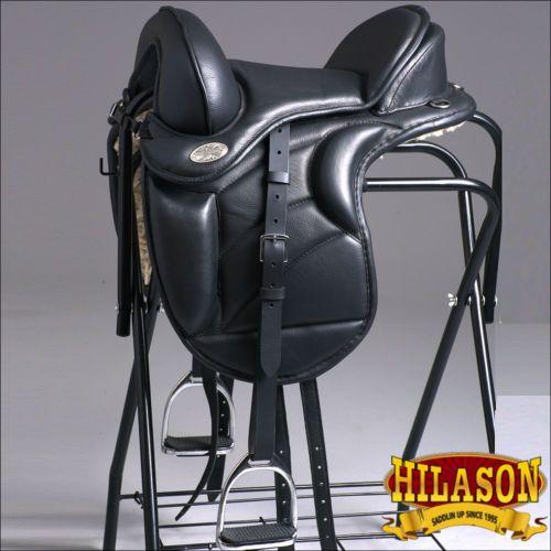 TE102-16-034-HILASON-ENGLISH-TREELESS-ENDURANCE-TRAIL-PLEASURE-LEATHER-HORSE-SADDLE