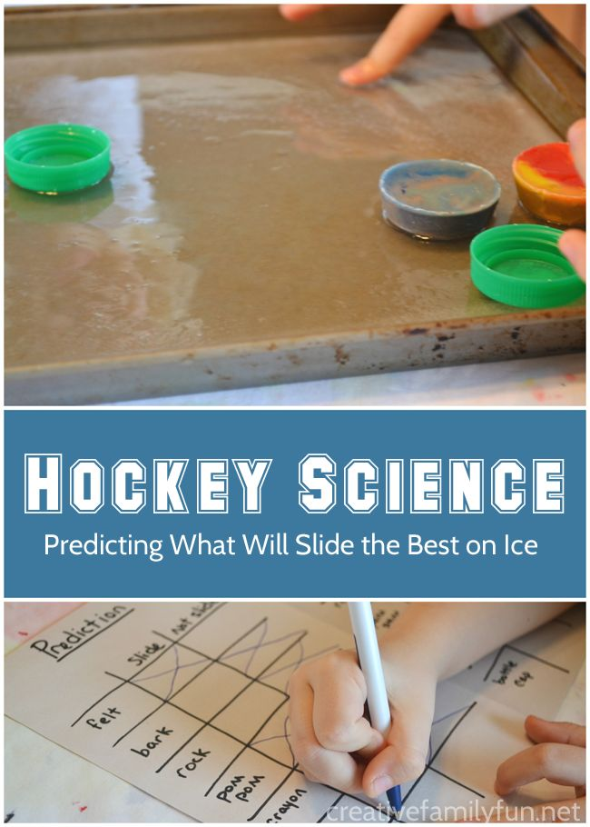 What slides the best on ice? Find out with this fun hockey science experiment for kids. This would make such an awesome science fair project!