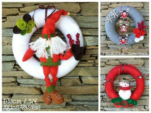 Christmas wreaths SantaClaus   !!! D 30 /35
