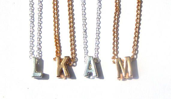 Initial Necklace Letter Necklace Initial Necklace Silver