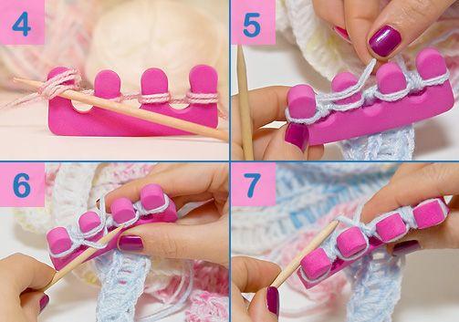 Finger/Toe Knitting