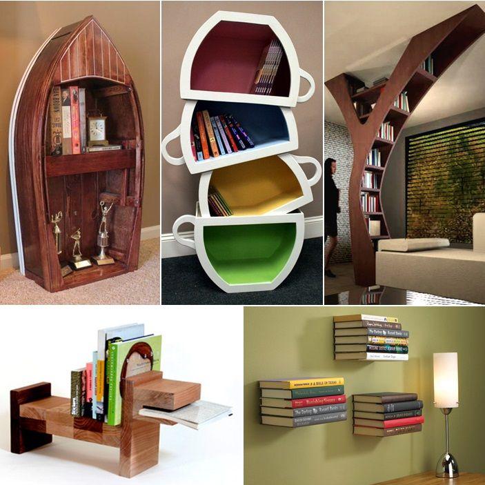 15 Creative and Awe-Inspiring Bookshelf Designs    - http://www.amazinginteriordesign.com/15-creative-and-awe-inspiring-bookshelf-designs/