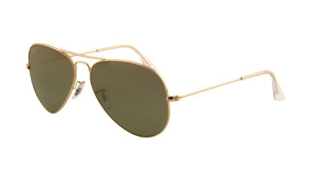 Ray Ban RB3025 Aviator Sunglasses Arista Frame Crystal Green Pol