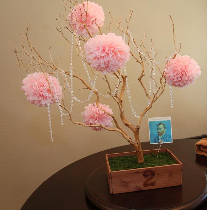 Diy manzanita branch centerpiece wedding pinterest