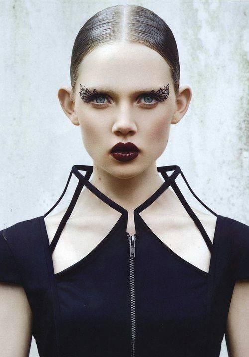 High collar zip front
