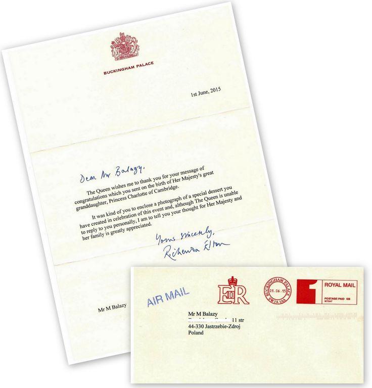 taki list od Jej Wysokości Królowej Elżbiety II dostałem ;)