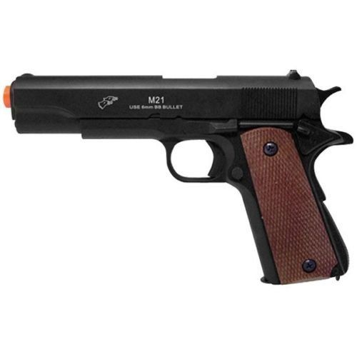 DOUBLE EAGLE M1911 AIRSOFT FULL SIZE SPRING PISTOL GUN w 6mm BB Heavy Weight *** Visit the image link more details.