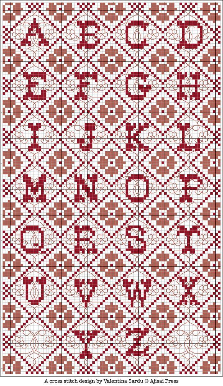 Free cross stitch pattern - Alphabet