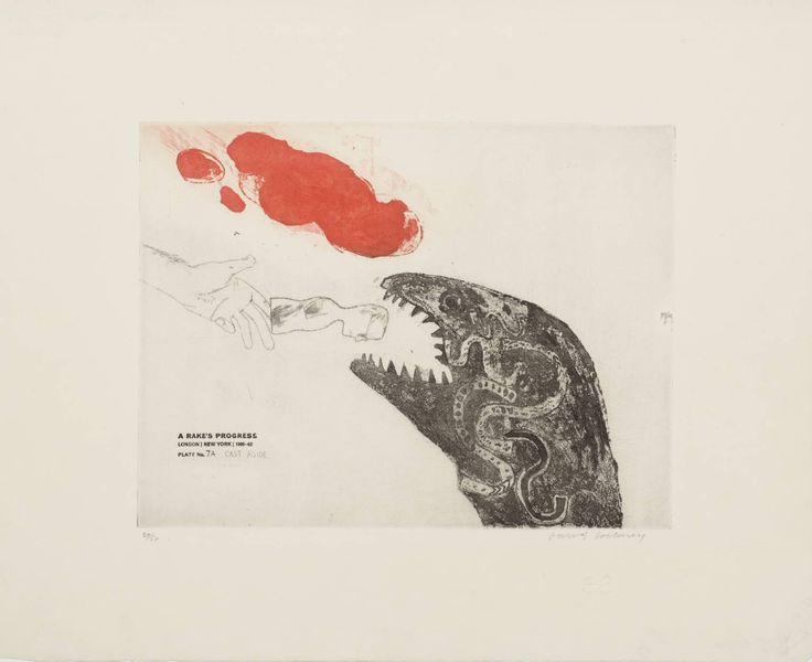 7a. Cast Aside, from A Rake's Progress, David Hockney