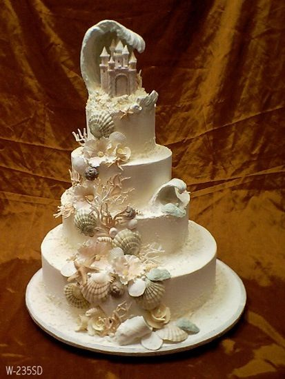 24 Best Images About Sand Castle Wedding Cake On Pinterest
