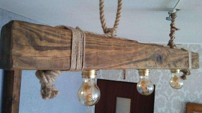 Lampa Wiszaca Z Belki Drewniana Retro Vintage Loft Dekoracja Kroscienko Wyzne Image 1 Ceiling Lights Decor Home Decor