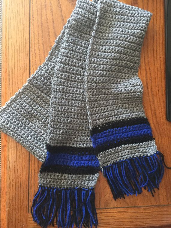 Thin Blue Line Scarf by HudsonHouseCo on Etsy