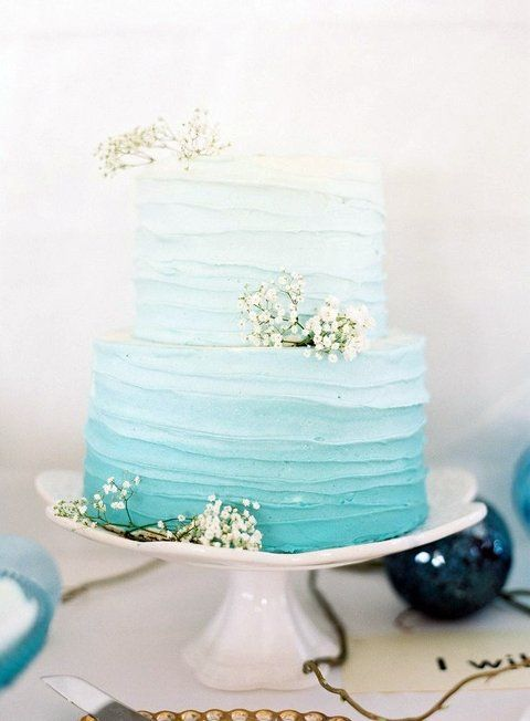 61 Stylish Ombre Wedding Cakes | HappyWedd.com