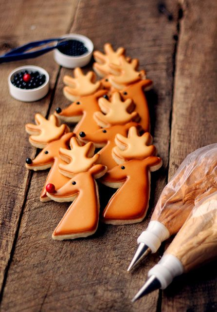Reindeer Cookies for Christmas #Recipe   #christmas #xmas #holiday #food #desserts #holidayrecipe