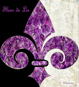 Fleur De Lis Painting - Amethyst Fleur De Lis by Barbara Chichester