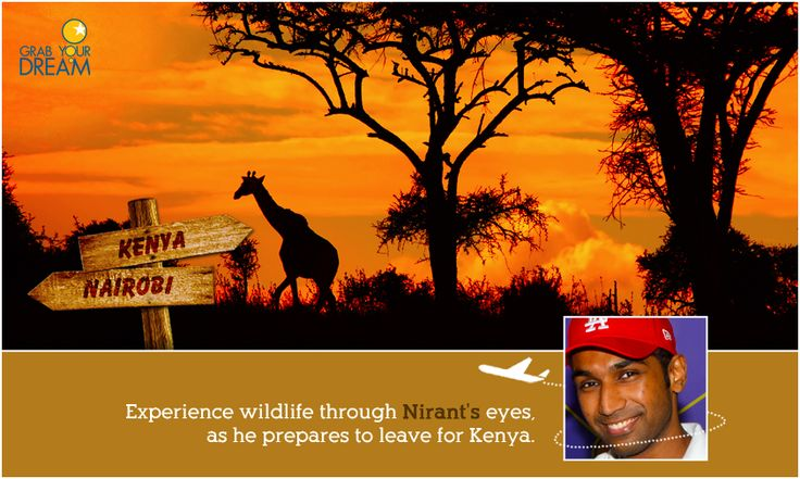 Nirant is ready for the great wilderness of Kenya, rich with natural beauty and once-in-a-lifetime experiences. Here's a little more about his trip: http://cnk.com/gydkenya